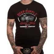 Deep Purple Speed King Men's Large T-Shirt (Black)