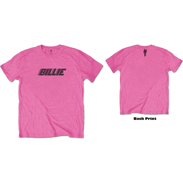 Billie Eilish - Racer Logo & Blohsh Unisex Small T-Shirt - Pink