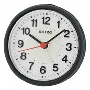 Seiko QHE159K Beep Alarm Clock with Flashing Alarm Black
