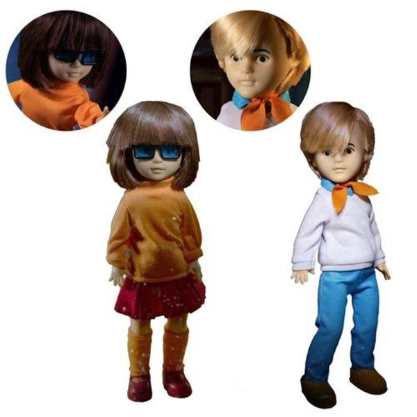 Velma and Fred Living Dead Dolls Scooby Doo Build a Figure Set