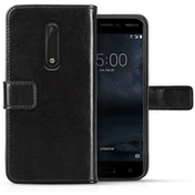 Nokia 5 Real Leather ID Wallet Case - Black