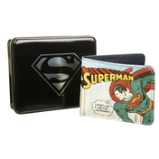 DC Comics Vintage Superman Wallet In Tin