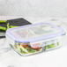 Set of 4 Glass Meal Prep Containers| M&W 2 Compartment - Image 7