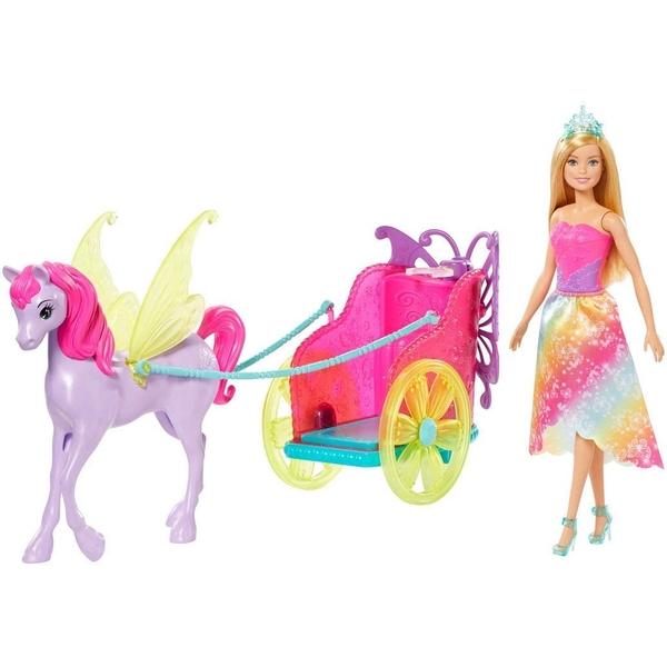 Barbie with Fantasy Horse & Chariot Playset