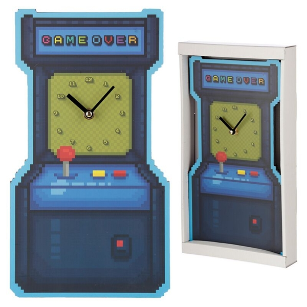 Retro Arcade Game Shaped Wall Clock