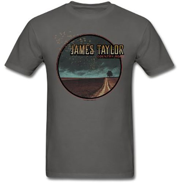 James Taylor - 2018 Tour Country Road Men's Small T-Shirt - Charcoal Grey