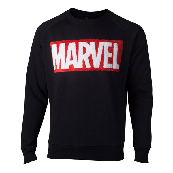 Marvel Comics - Chenille Logo Men's Large Sweater - Black