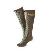 Nintendo Legend of Zelda Skyward Sword Gold Royal Crest Knee High Socks