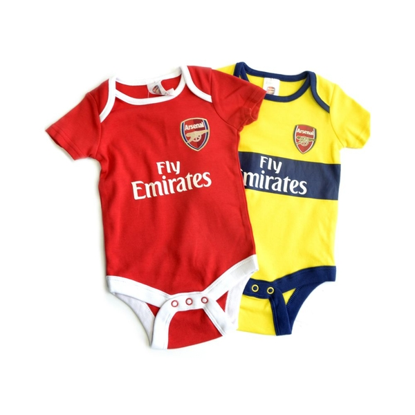 Arsenal Two Pack Body Suit 2019 20 9-12 Months