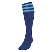 Precision 3 Stripe Football Socks Mens Navy/Sky