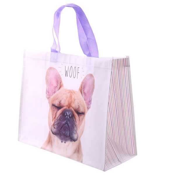 French Bulldog Design Durable Reusable Shopping Bag