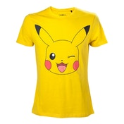 Pokemon Men's Pikachu Winking Large T-Shirt