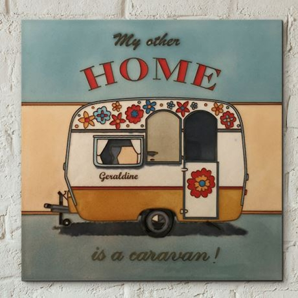 Tile 8x8 Home For Summer By Martin Wiscombe Wall Art