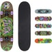 Xootz Kids Complete Beginners Double Kick Trick Skateboard Maple Deck - 31 x 8 Inches Tentacles - Image 2