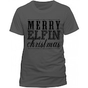 Christmas Generic - Elfin Xmas Men's Medium T-Shirt - Grey