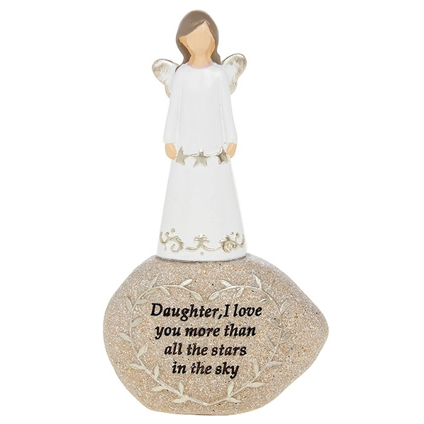 Stone Sentiment Angel Daughter Ornament