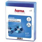Hama Standard Blu-ray Double Jewel Case, pack of 3, blue