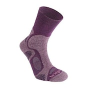 Bridgedale Women's Cool Fusion Trail Blaze Socks, Purple - Medium UK 5-6.5
