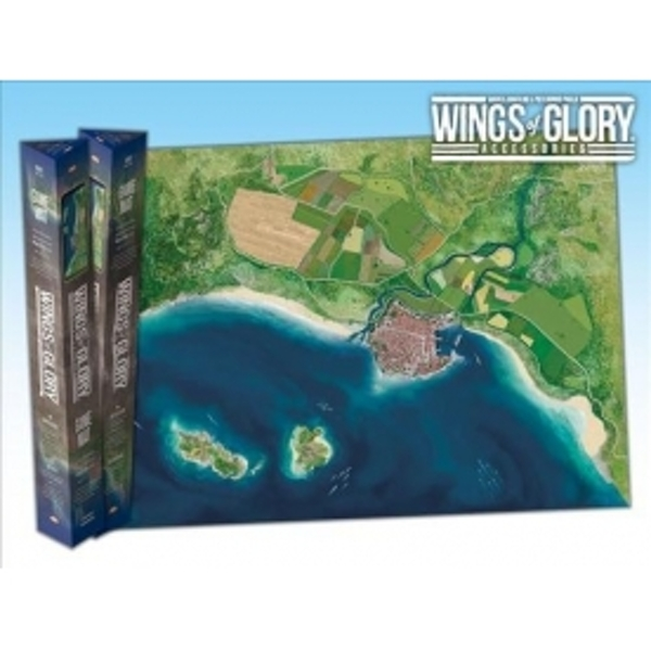 Image of Wings of Glory Game Mat Coast Board Game