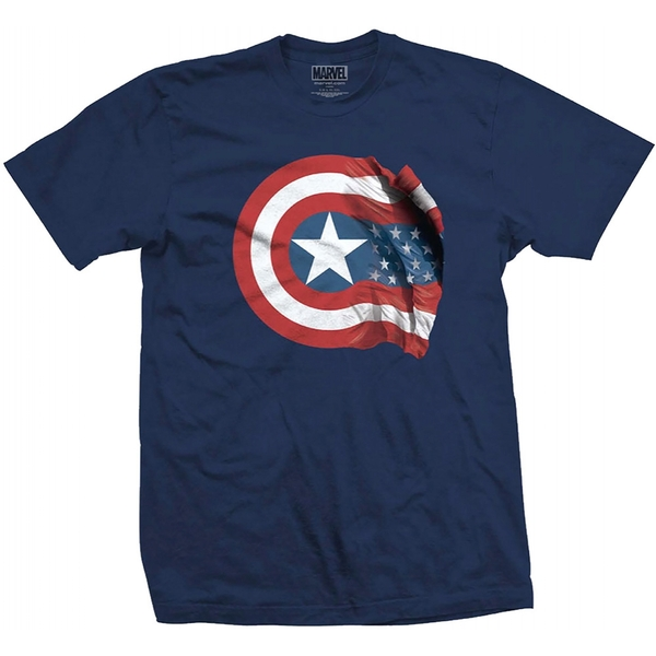 Marvel Comics - Captain America American Shield Men's Medium T-Shirt - Black