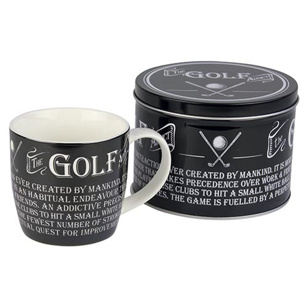 Ultimate Gift for Man Mug in a Tin Golf