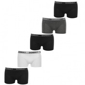 Donnay 5 Pack Mens Boxers Black Grey & White Small