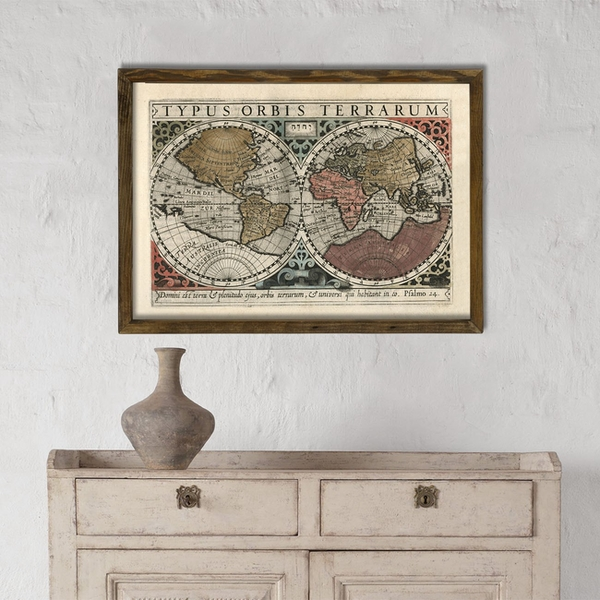 Map008 Multicolor Decorative Framed MDF Painting