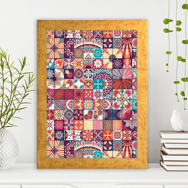 AC409475566 Multicolor Decorative Framed MDF Painting