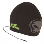No Fear Headphone Beanie Black & Grey