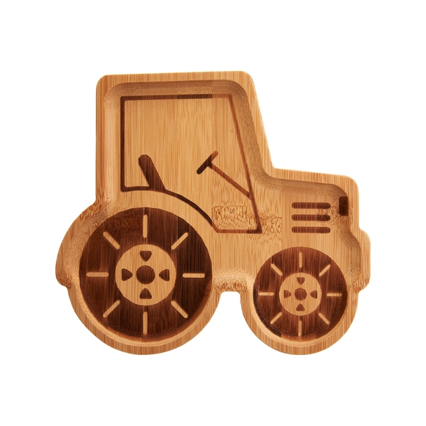 Sass & Belle Tractor Bamboo Plate