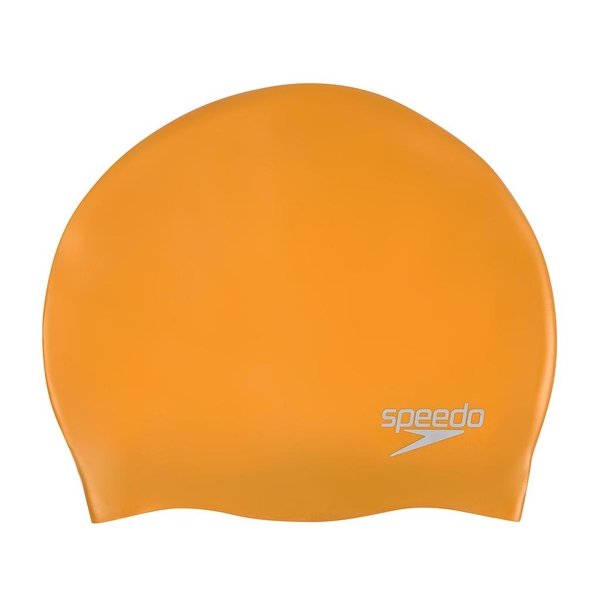 Speedo Silicone Swim Cap Gold Adult