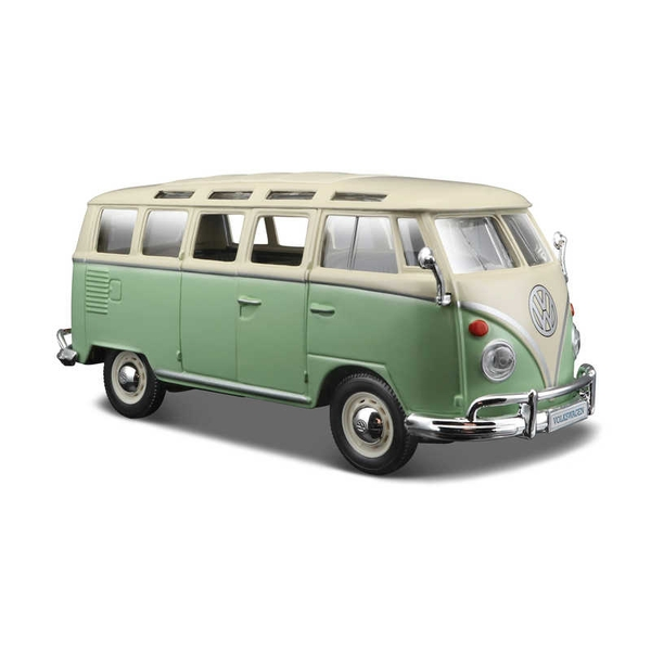 1:25 VW Volkswagen Van Samba (Green) Diecast Model