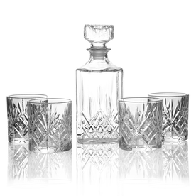 Set of 4 Tumbler Set & Whiskey Decanter | M&W