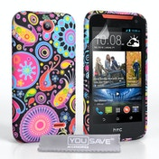 YouSave Accessories HTC Desire 310 Jellyfish Gel Case - Multicoloured