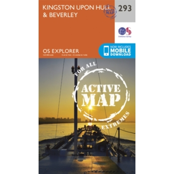 Kingston-Upon-Hull and Beverley by Ordnance Survey (Sheet map, folded, 2015)