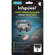 Infapower F046 3 Watt Rechargeable USB Sensor Head Torch