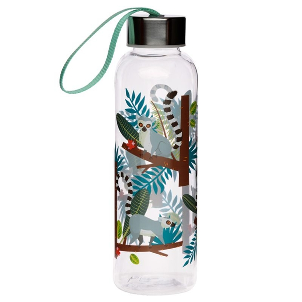 Spirit of the Night Lemur 500ml Reusable Plastic Water Bottle with Metallic Lid