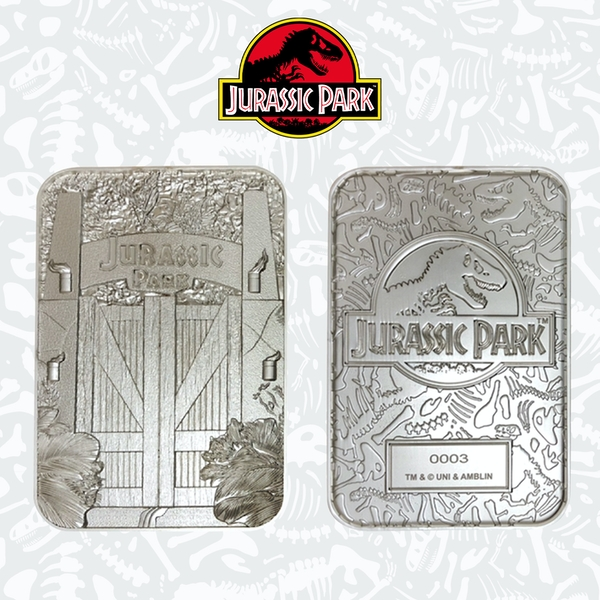 Jurassic Park Gate Silver Limited Edition Collectable Ingot