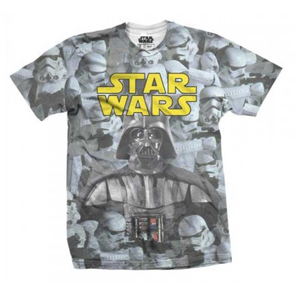 Star Wars Imperial Photo Montage with Sublimation Printing Men's Large T-Shirt