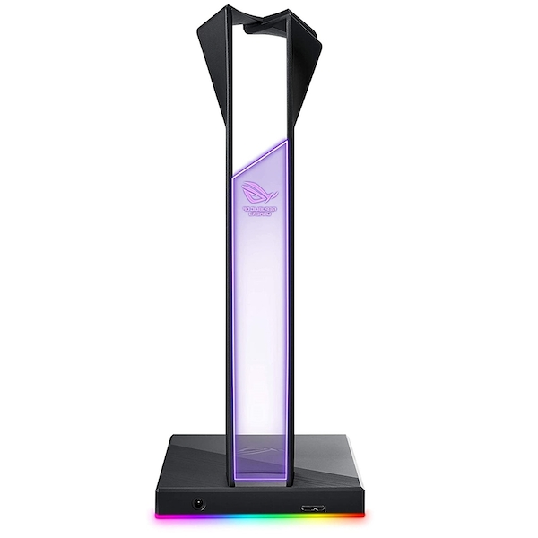 Asus ROG THRONE QI RGB External Soundcard & Headset Stand, Dual USB 3.1, Wireless Charging, Built-in ESS DAC and AMP, RGB Lighting