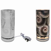 Silver Touch Lamp Cosmic By Lesser & Pavey (UK Plug)