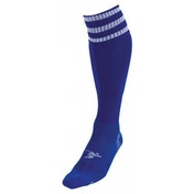 PT 3 Stripe Pro Football Socks Mens Royal/White