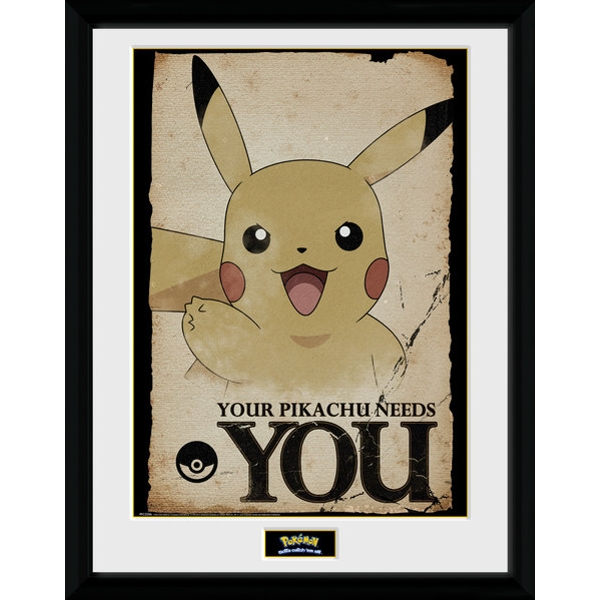 Pokemon Pikachu Needs You Collector Print