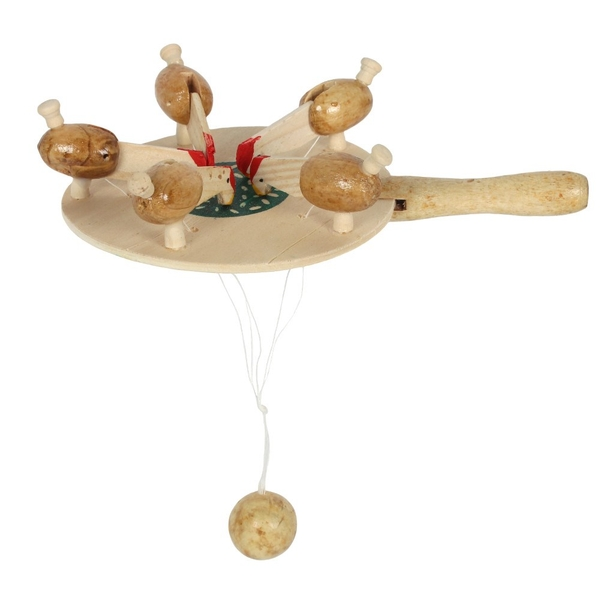 Pecking Chicken Wooden Game Pack Of 6