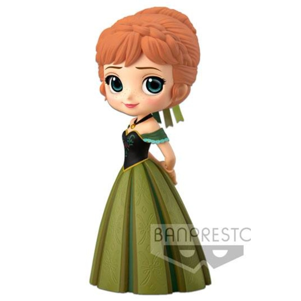 Anna Coronation Style A Normal Colour Version Disney Q Posket Mini Figure
