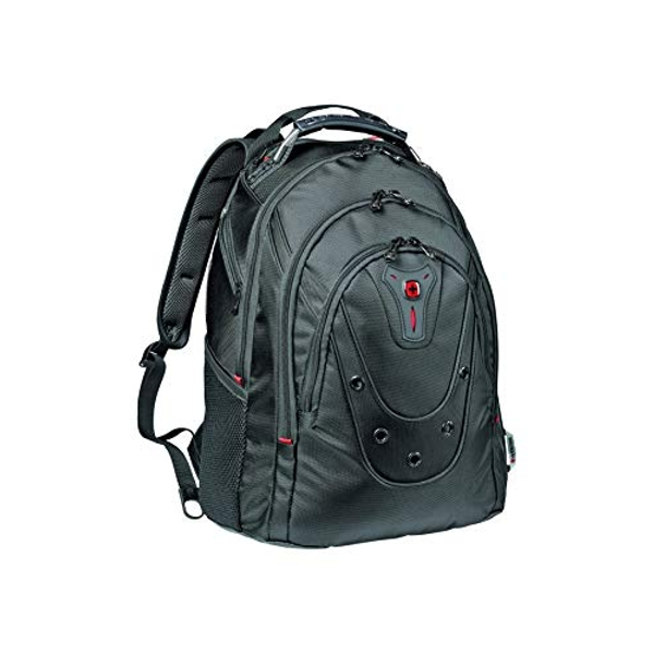"Wenger 605500 Ibex 16"" Backpack Slim Made From Ballistic Polyester In Black {26 Litres}"