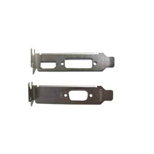 2 X Low Profile Brackets For Graphics Cards Fits DVI + HDMI And VGA - Image 1