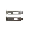 2 X Low Profile Brackets For Graphics Cards Fits DVI + HDMI And VGA