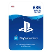 PlayStation PSN 35 Wallet Top Up Card PS4, PS3 & PS Vita - UK Account
