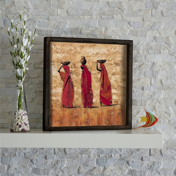 KZM420 Multicolor Decorative Framed MDF Painting